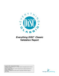 DiSC Validation Research Report