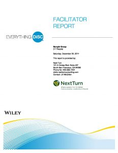Sample Facilitator Report