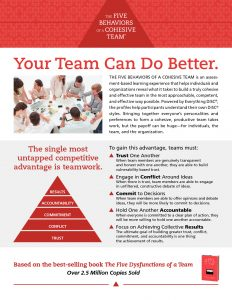 5 Behaviors of a Cohesive Team Brochure
