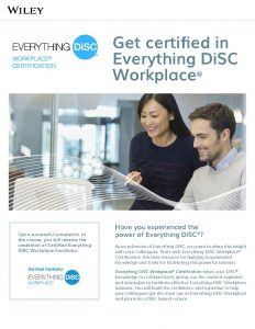 Everything DiSC Workplace Certification Brochure