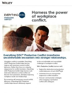 Everything DiSC Productive Conflict Brochure