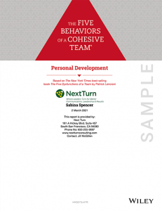 5 Behaviors Personal Development Sample Profile
