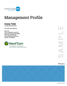 Everything DiSC Management Profile Sample